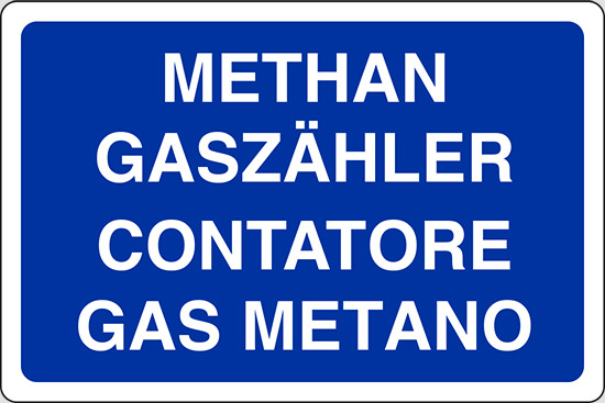 METHAN GASZAHLER CONTATORE GAS METANO