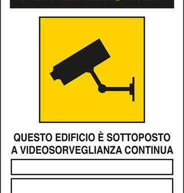 ATTENZIONE! QUESTO EDIFICIO E' SOTTOPOSTO A VIDEOSORVEGLIANZA CONTINUA ____ ____ Art. 13 del Codice in materia di protezione dei dati personali D.Lgs. 101/2018 e del Regolamento UE 2016/679 (GDPR)