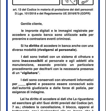 INFORMATIVA art. 13 del Codice in materia di protezione dei dati personali D.Lgs. 30 giugno 2003, n. 196 e del Regolamento UE 2016/679 (GDPR)