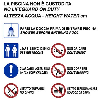 REGOLAMENTO PISCINA POOL RULES…