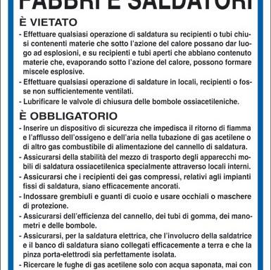 NORME DI SICUREZZA PER FABBRI E SALDATORI