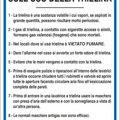 NORME DI SICUREZZA SULL'USO DELLA TRIELINA