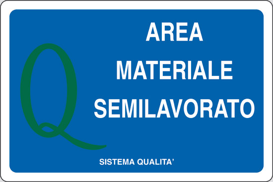 AREA MATERIALE SEMILAVORATO