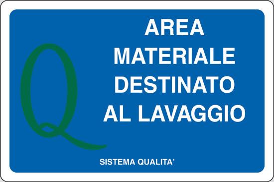 AREA MATERIALE DESTINATO AL LAVAGGIO