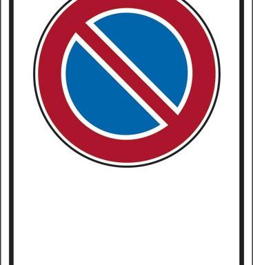 """(simbolo """"divieto di sosta"""" con spazio scrivibile)"""