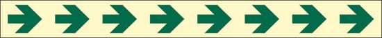 verde (indicazione di direzione e del corrimano – con antiscivolo) luminescente