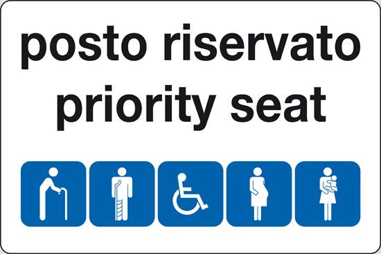 posto riservato priority seat