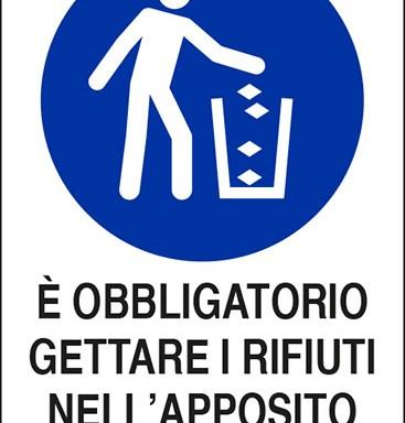 E' OBBLIGATORIO GETTARE I RIFIUTI NELL'APPOSITO CONTENITORE
