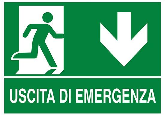 USCITA DI EMERGENZA (in basso)