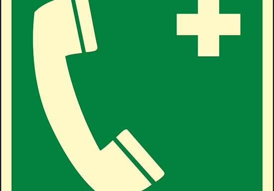 (telefono di emergenza – emergency telephone) luminescente