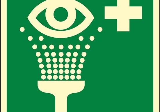 (lavaocchi di emergenza – eyewash station) luminescente