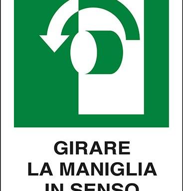 GIRARE LA MANIGLIA IN SENSO ANTIORARIO