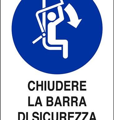 CHIUDERE LA BARRA DI SICUREZZA DELLA SEGGIOVIA
