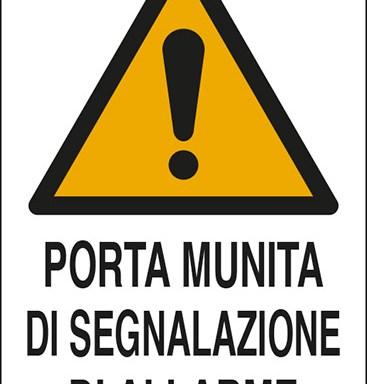 PORTA MUNITA DI SEGNALAZIONE DI ALLARME