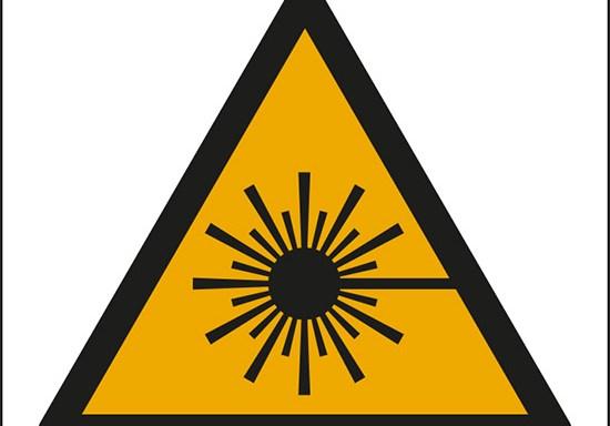 (pericolo raggio laser – warning: laser beam)