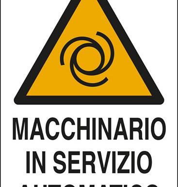 MACCHINARIO IN SERVIZIO AUTOMATICO