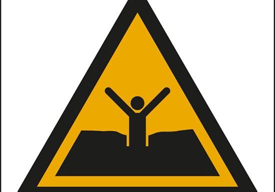 (attenzione; sabbie mobili o fanghi/fanghi profondi o limo – warning; quicksand or mud/deep mud or silt)