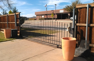 Before - Poorly Fitting Automatic Gate