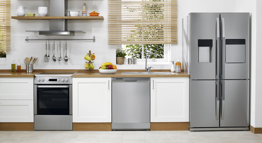 Domestic kitchen with modern appliances