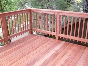 your redwood fence or deck
