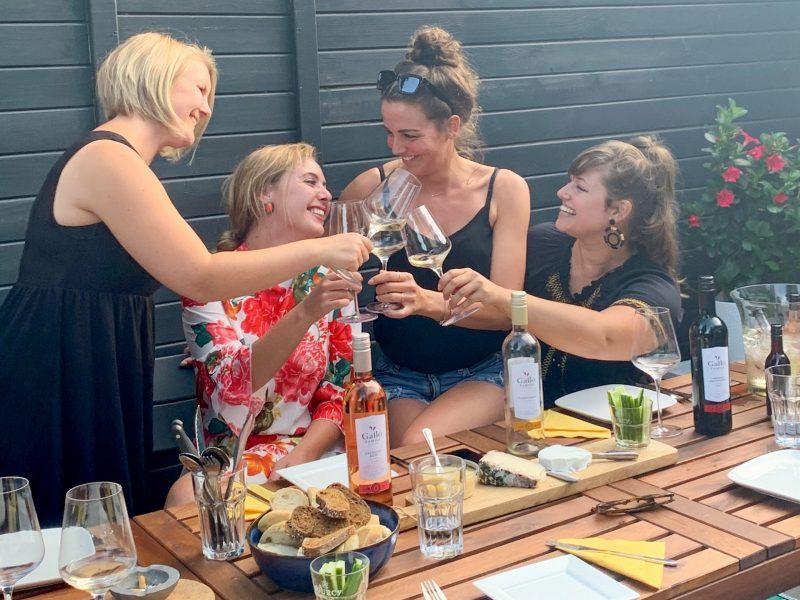 Gallo wijnproeverij wijn-spijs met vriendinnen