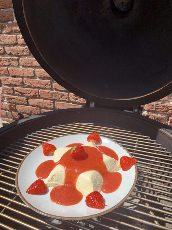 Gerookte panna cotta barbecue