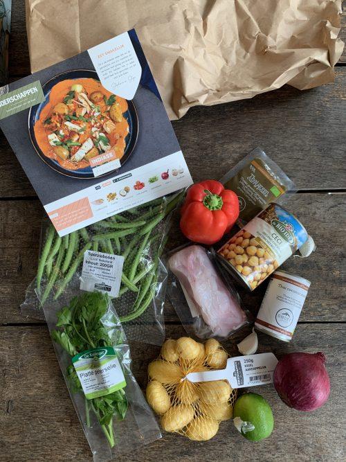 Ingredienten viscurry Boerschappen gemaksbox