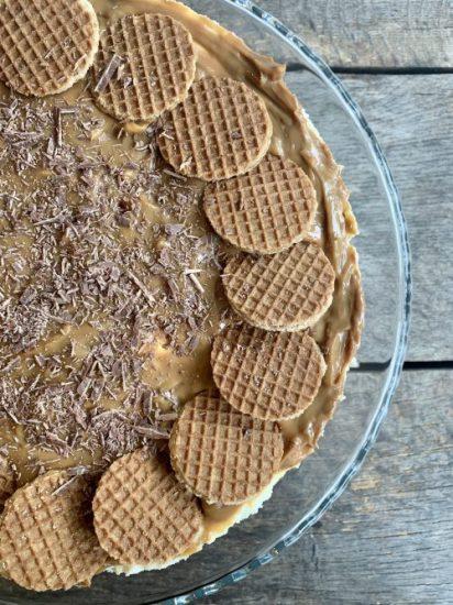 Stroopwafel cheesecake met dulce de leche