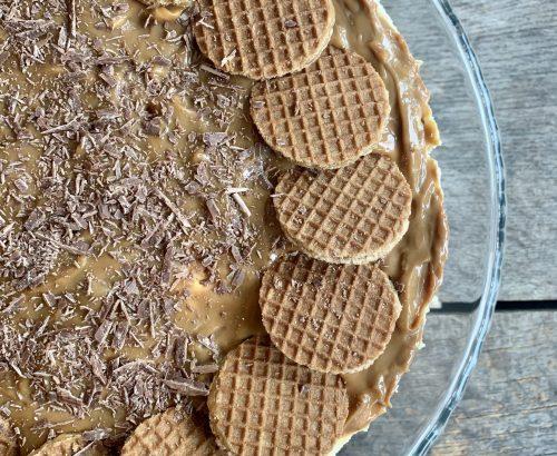 No bake stroopwafel cheesecake
