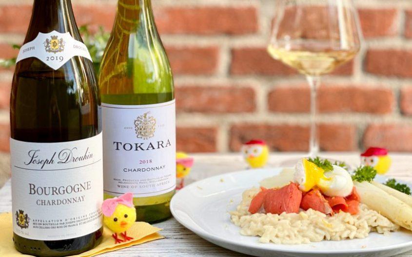 Risotto met asperges zalm en Pasen wijnen van Gall