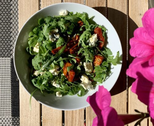 Rucola salade blauwe kaas