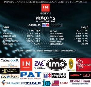 Xebec: annual technical fest of IGDTUW by the Mechanical Engineers