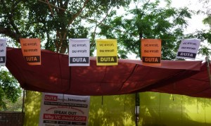 "DU Teachers Boycotts evaluation work of undergraduate courses opposing ""Autonomous Colleges and Graded Autonomy"" scheme"