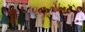 Three Day DUTA Jansunwai indicts DU VC and demands its immediate removal