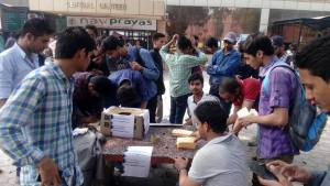 Around 1000 students of Jamia Millia Islamia wrote Postcard messages to the President of India  for justice to Rohith Vemula