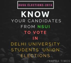 DUSU Polls: Know Your Candidates from NSUI