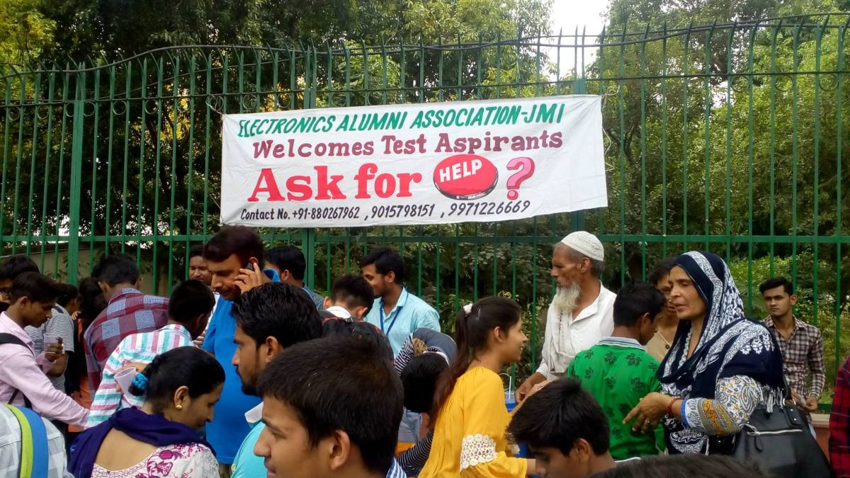 Jamia Alumni provides free accommodation to Entrance Test aspirants and set up Help-desks