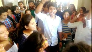 Students hold protest as Dayal Singh Evening College all set to become Morning College