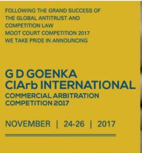 G.D. Goenka University is all set to host the CIArb International Commercial Arbitration Competition