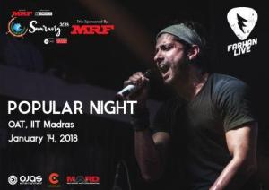 "IIT Madras is all set to host ""Saarang"" with most awaited DJ Nights"