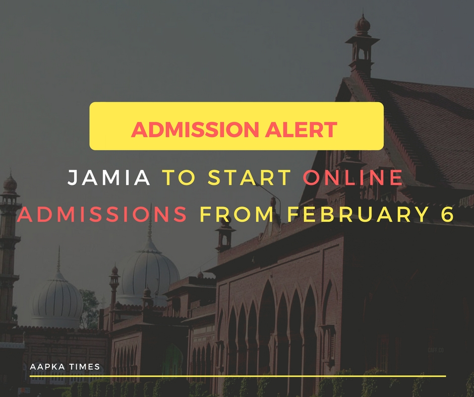 Jamia to start online admissions from February 6