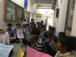 The attack on Higher Education continues ; DU Students continue their protest, Calls for hunger strike