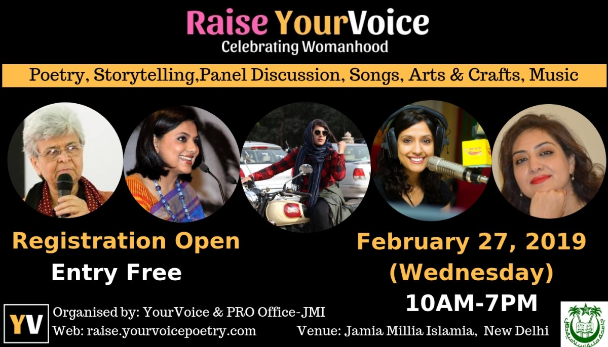 """Raise YourVoice"": A kind of Women Literature fest to be held on 27th February at Delhi's Jamia Millia Islamia"