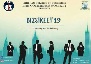 "The Commerce Society, SRCC to organise ""Bizstreet'19"" – India's largest undergraduate Commerce festival"