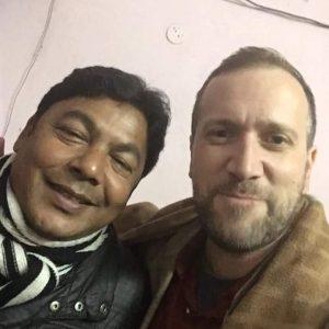 रेणु जी के पुत्र के साथ ।