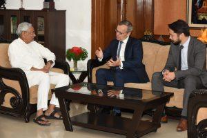 मुख्यमंत्री नीतीश कुमार से मिले नोर्वे के राजदूत, बिहार में जतायी निवेश की इच्छा