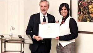 इटली ने अपने सर्वोच्च नागरिक सम्मान से बिहार की डॉ. प्रतिष्ठा सिंह को किया सम्मानित