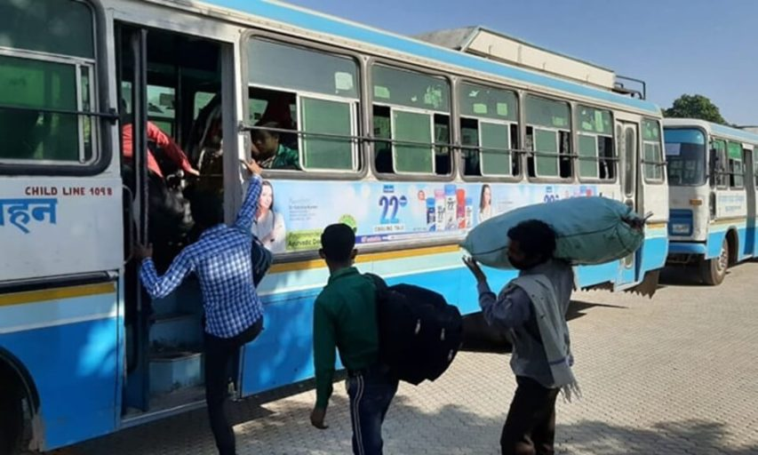 haryana buses, buses for migrant workers