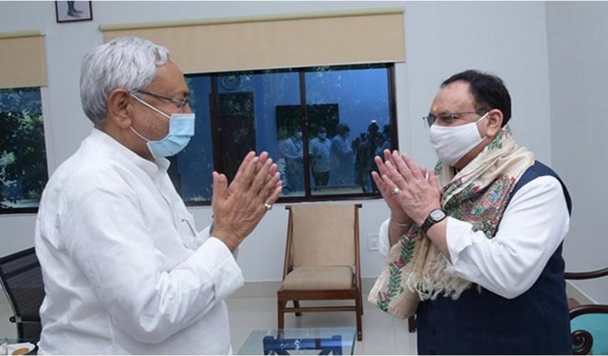 Nitish Kumar, JP NAdda, BJP, JDU, NDA, Bihar Election