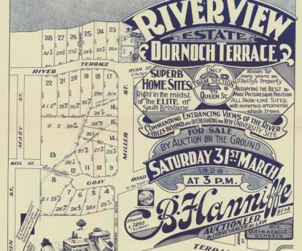 Riverview-estate Dornoch-Terrace 1928 land sale